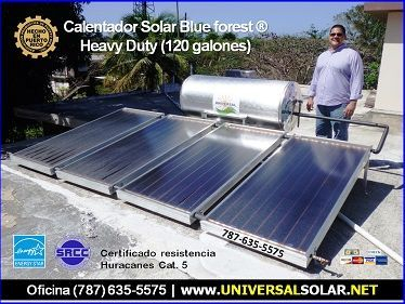 Calentador de agua solar comercial