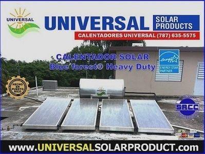 calentador solar de agua comercial con 4 colectores solares