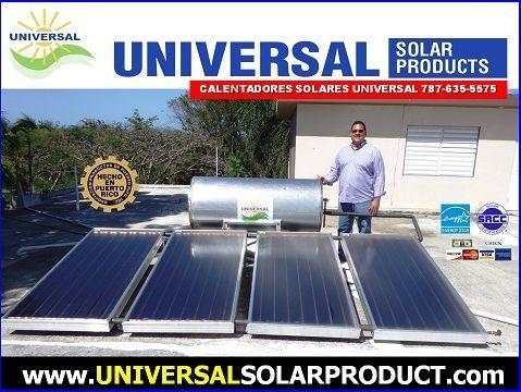 Calentador solar comercial para suplir agua caliente hasta 12 personas diariamente