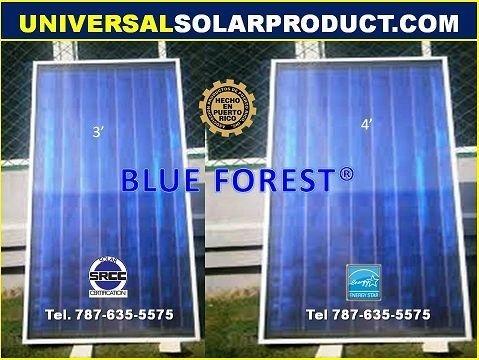 placa o colector solar para calentadores solares de agua