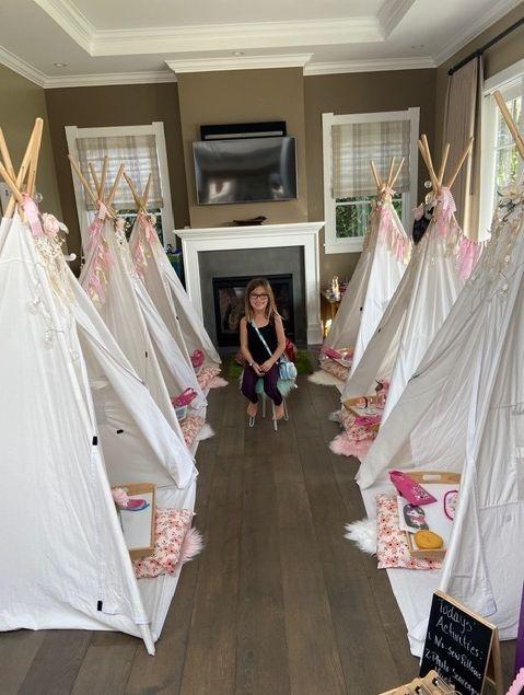 kids party rentals, teepee rentals, teepee rental, teepee sleepover, sleepover  party,  kids birthday party, kids birthday parties, kids party planner, Newport Beach, Orange County