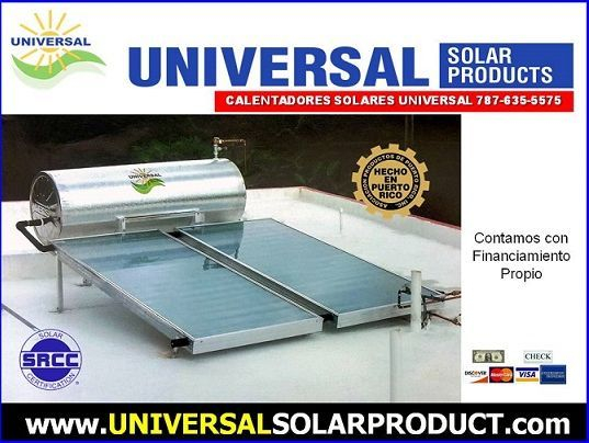 Calentador Solar 2 placas, Puerto Rico
