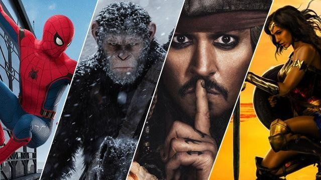 Movie poster, Spiderman, Planet of the apes, Wonder Women