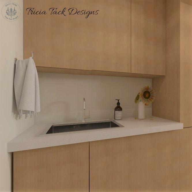 Scandinavian basement design, interior design, bar, sink