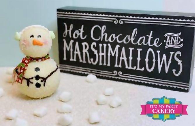 Snowman Hot Cocoa Bomb, Hot Chocolate Bomb, Cocoa Bomb, Snowman Cocoa, Itz My Party Cakery