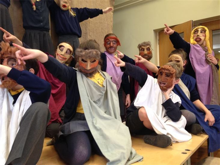 Ancient Greeks workshop drama and role play for primary schools Greek Theatre