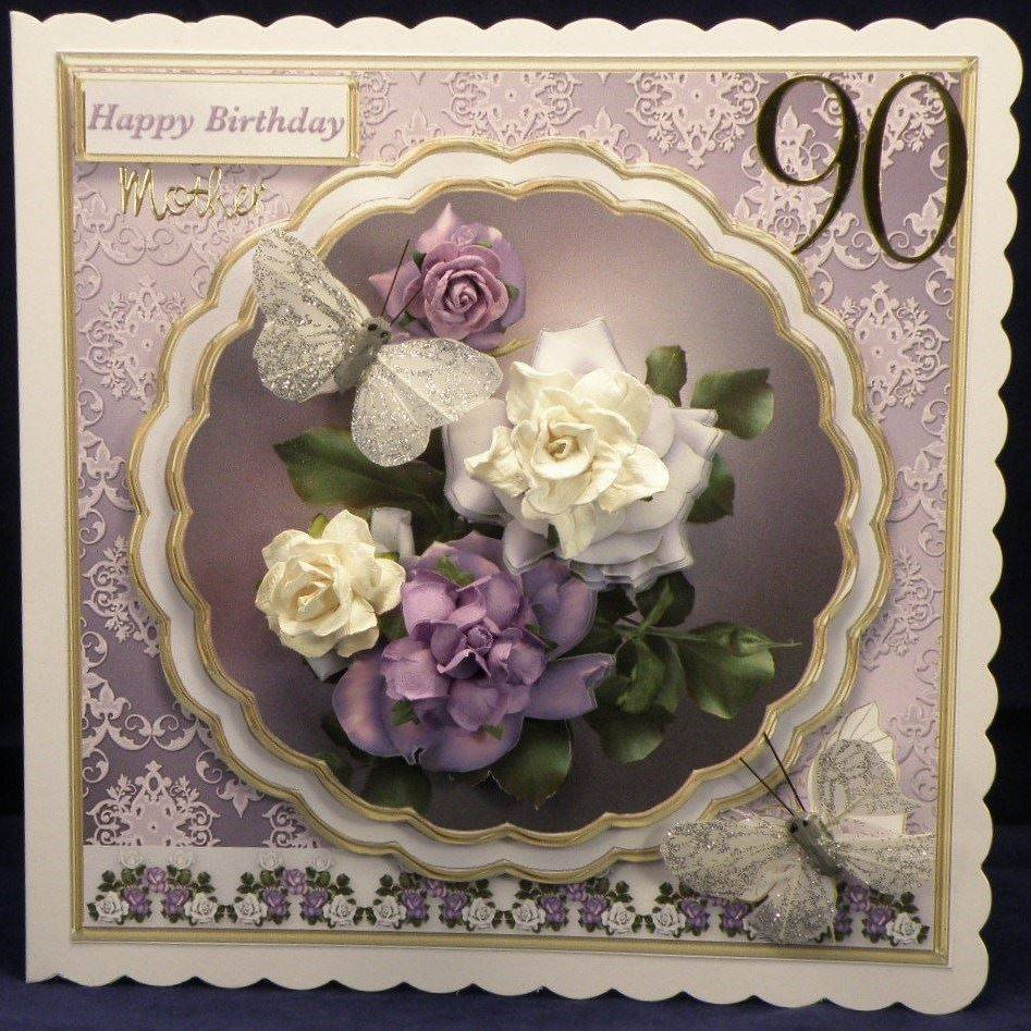 Lilac and White Roses