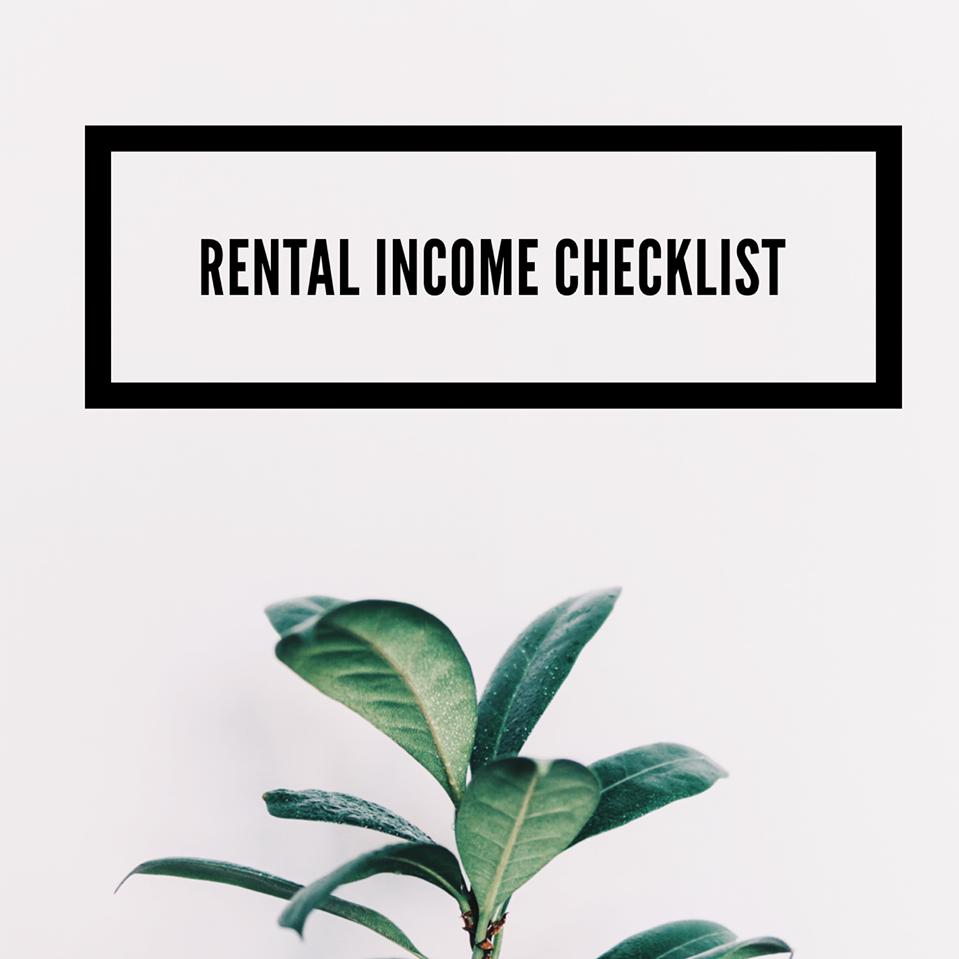Rental Income Tax Checklist