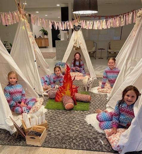 Teepee rentals; kids party rentals; kids teepee party; kids birthday party; kids sleepover party; party planner; Newport Beach; Orange County