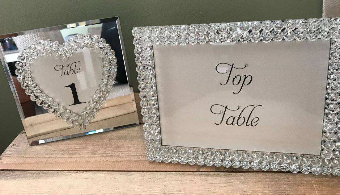 Table Numbers made for frames