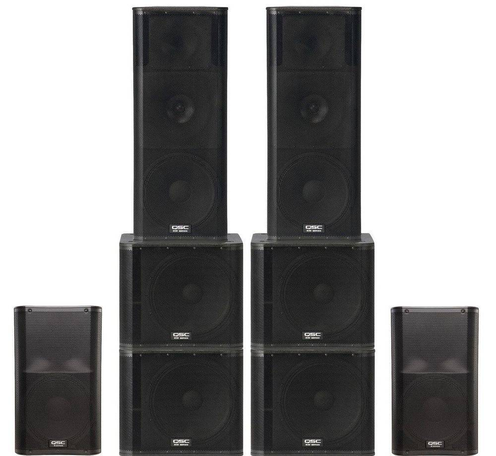Large QSC Powered Sound System for Rent