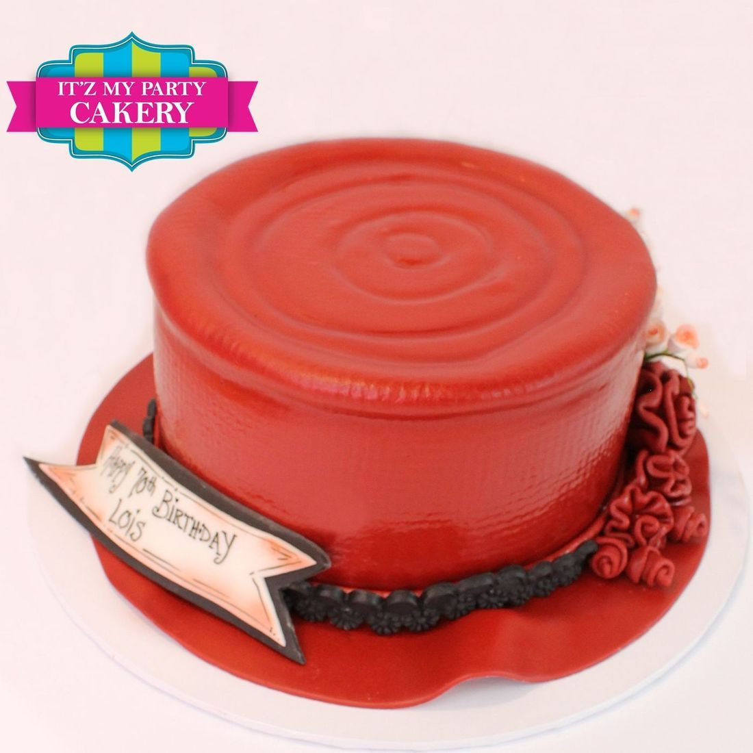 Red Black Hat Cake Dimensional Cake Milwaukee