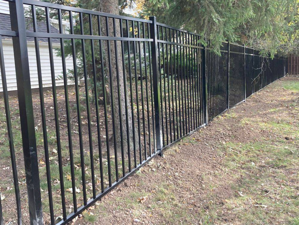 Installed 6 ft  aluminum fence & double gatewhich includes 3 year Workmanship warranty!