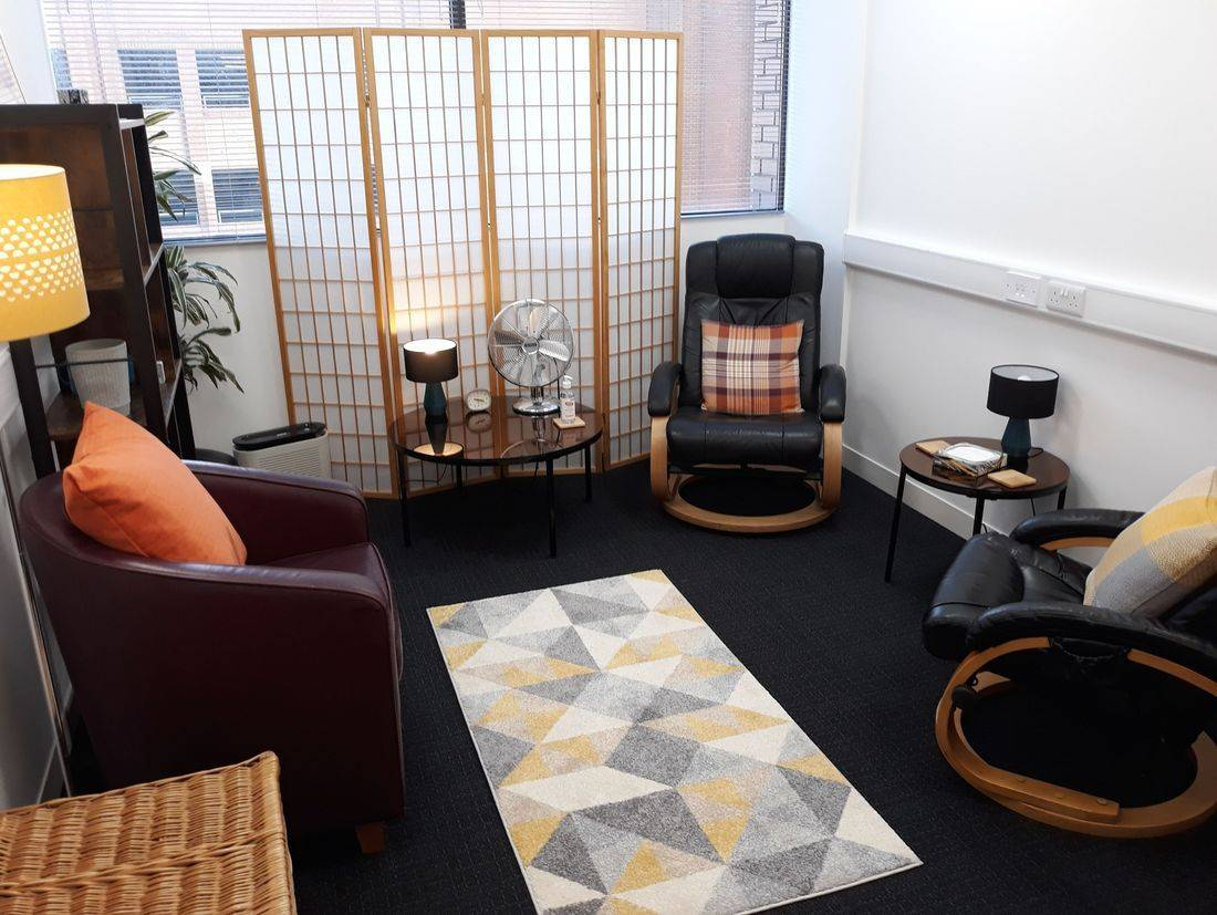 Counselling therapy room harrow