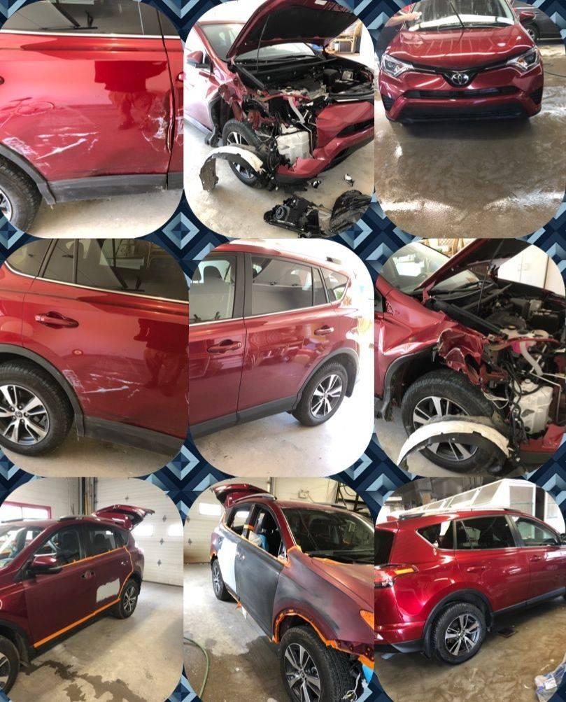 Nissan Rogue dent scratch and paint