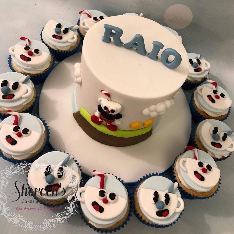 Mugman Cuphead Cupcakes Birthday