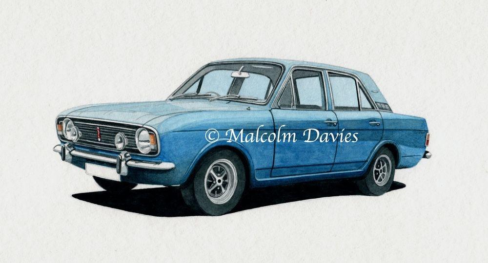 Ford Cortina Mk 2 (watercolour) : £50