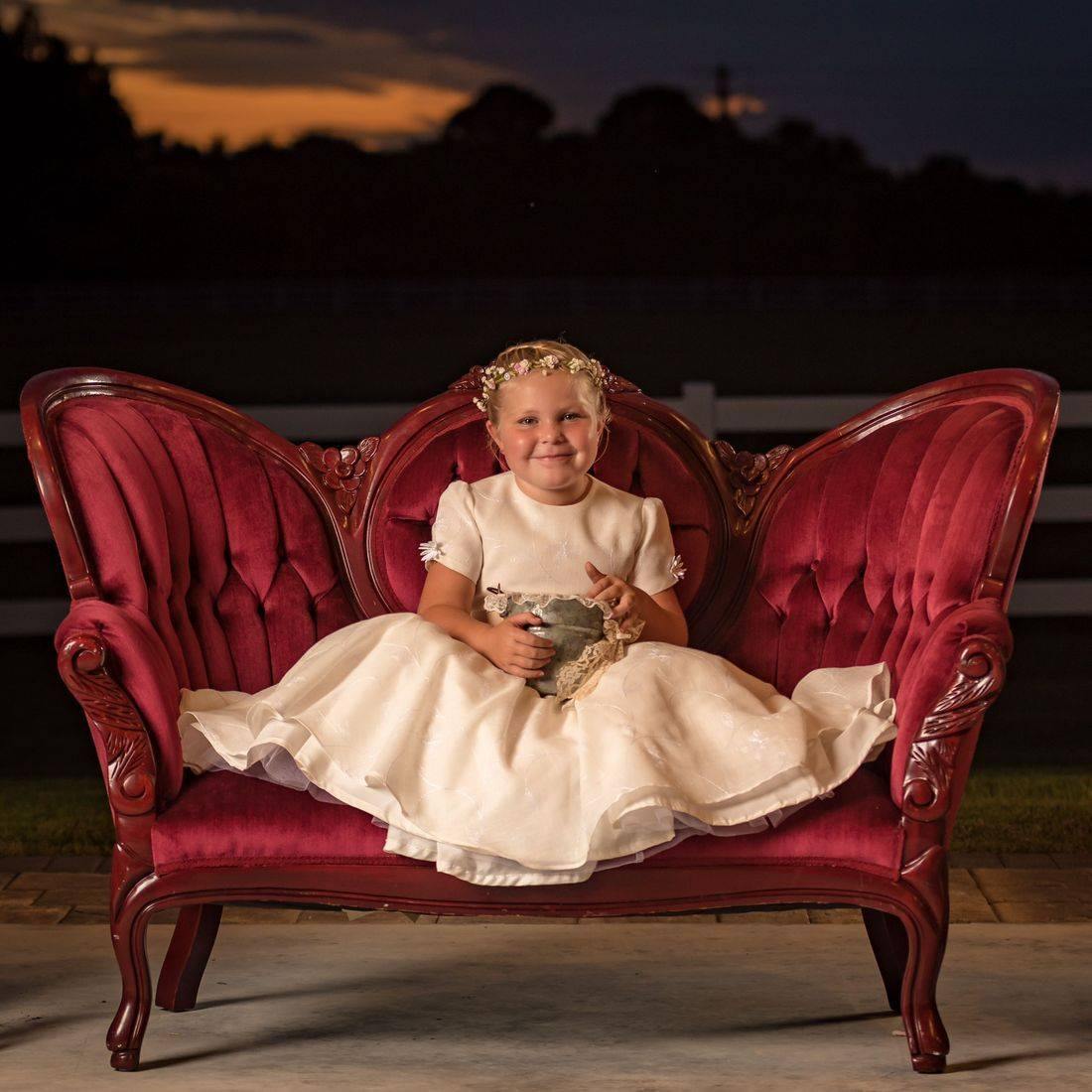 Gorgeous silk Flower Girl Dress Comes in all Sizes