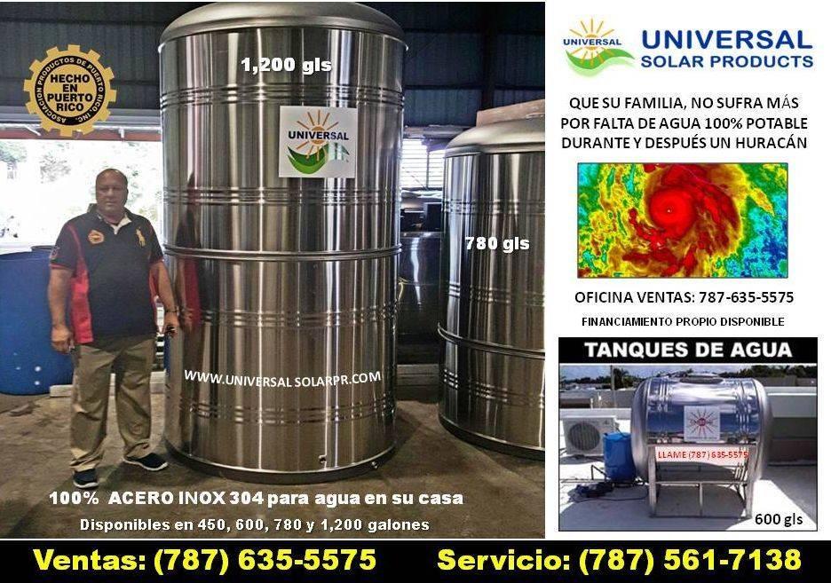 Tanque de agua 1,200 en stainless steel