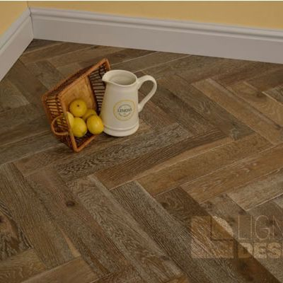 Lignum Oak Smoked Limed Herringbone