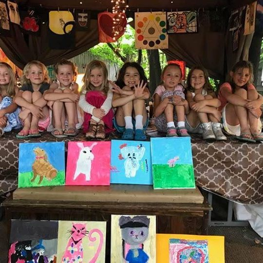 Children and their artworks