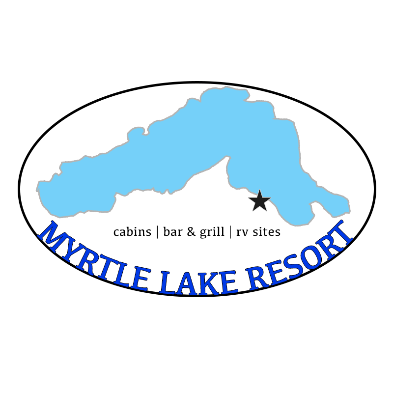 Myrtle Lake, resort, fishing, atv, cabins, rv