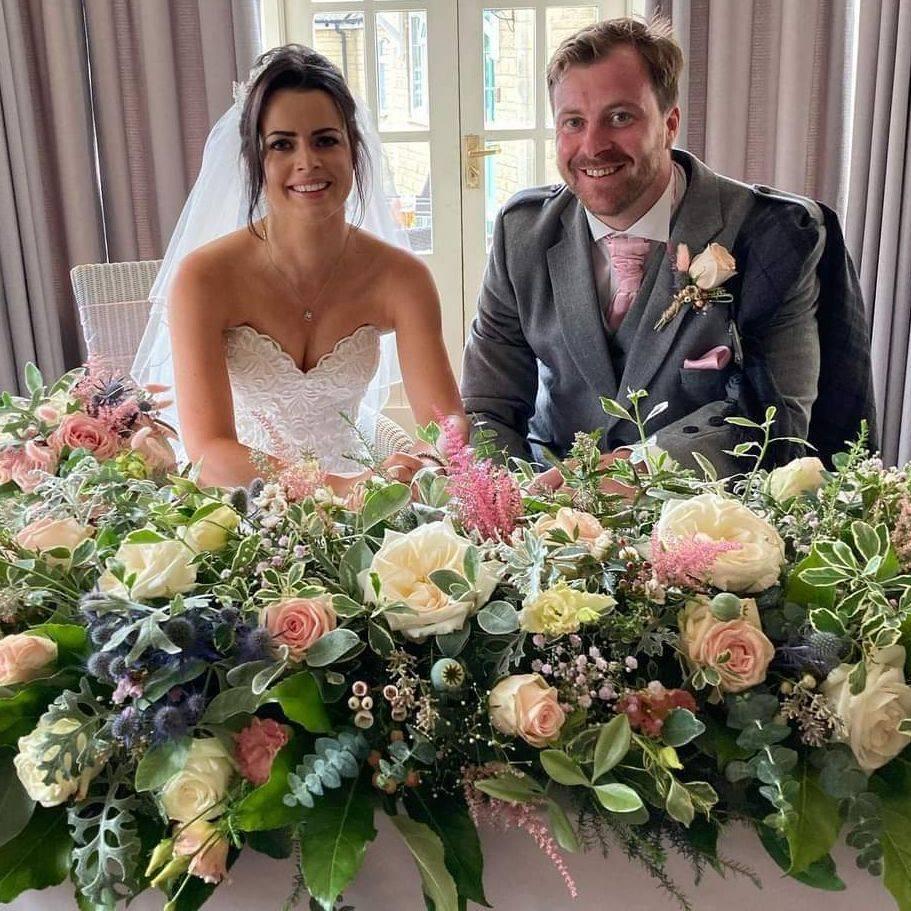 Wedding Flowers, Top table arrangement