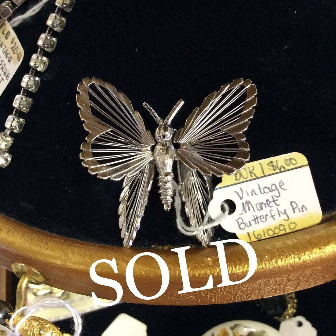 Vintage Monet Butterfly Pin - Only $6.00