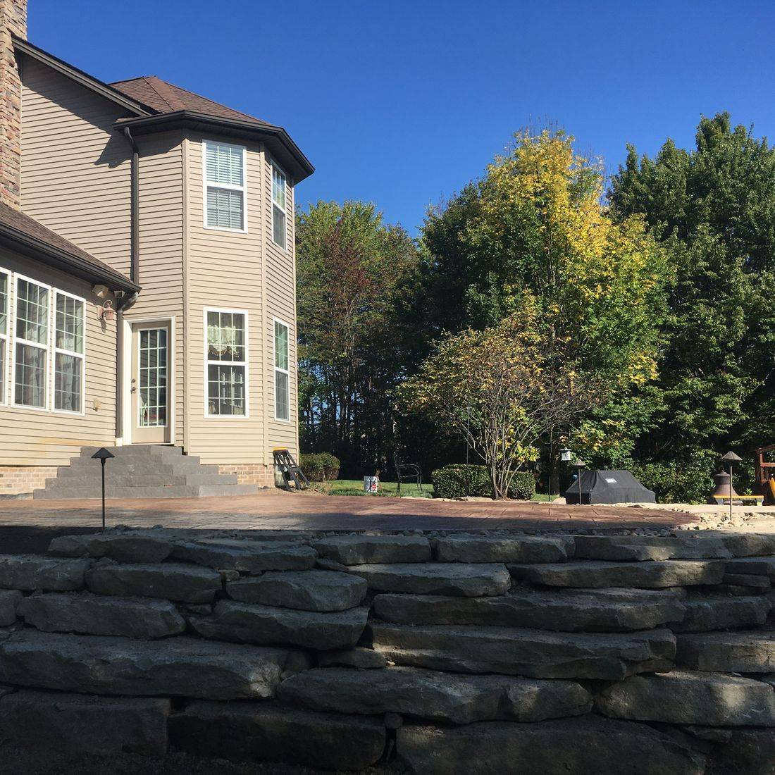 Sandstone slabs, retaining wall, sandstone wall