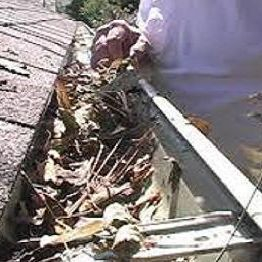 Gutter to be cleaned by our team at Gympie Home Handyman, Gardening & Maintenance Servicees