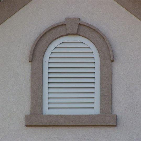 aluminum round top gable vent
