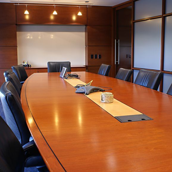 Meeting Room With Black Chairs