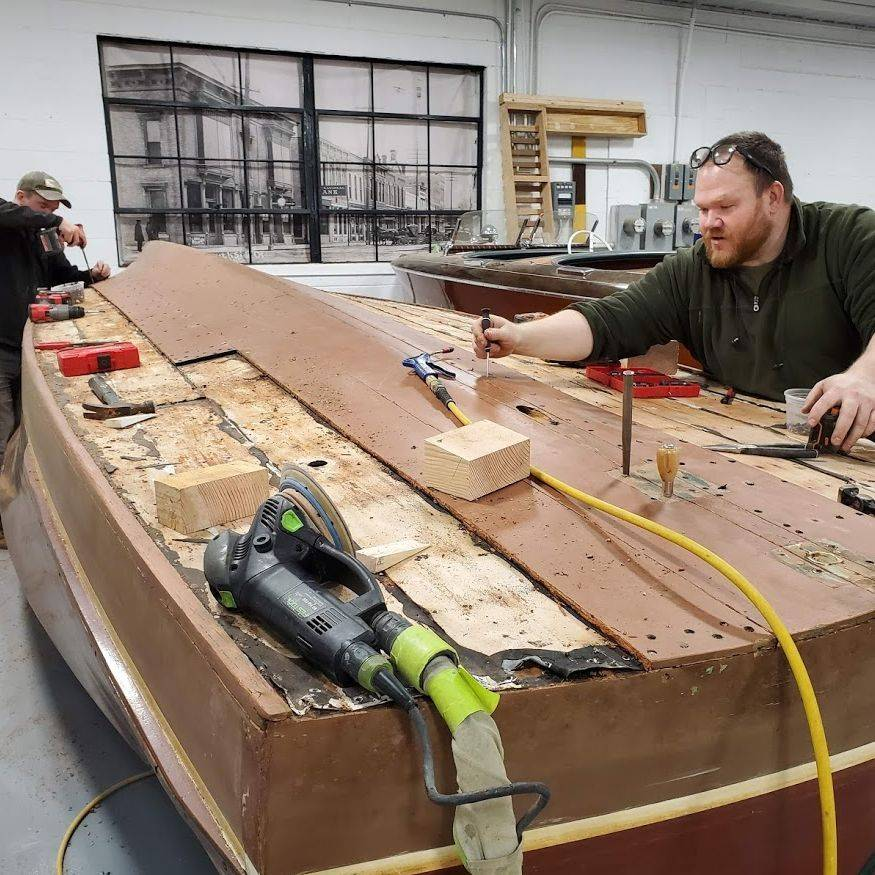 Chris Craft wood boat bottom replacement