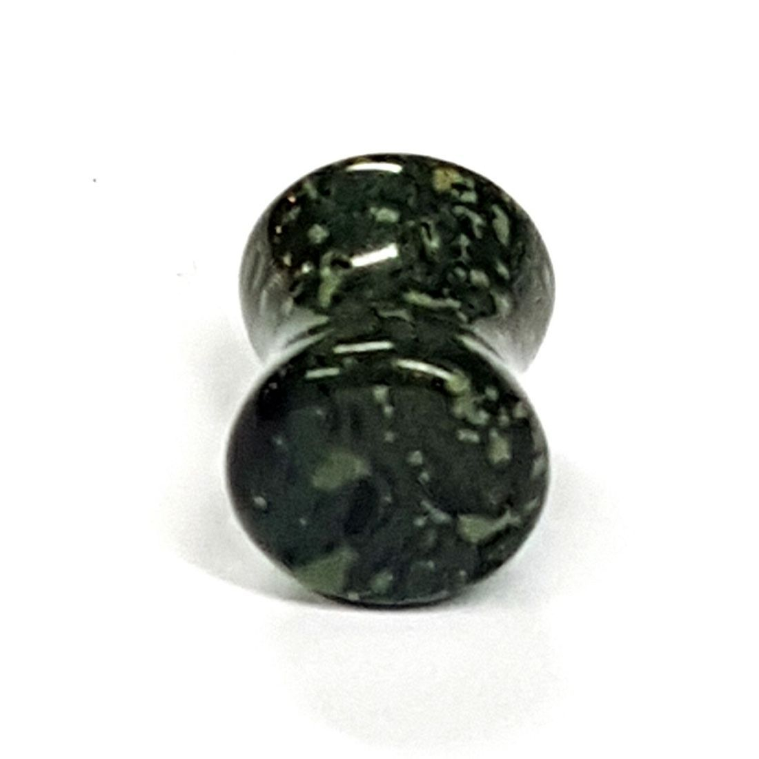 Black and Green Jasper natural stone plug  available at Kazbah online or our Leicester City Centre store