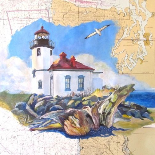 lighthouse painting albatross coast guard