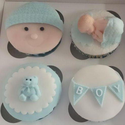 New Baby Cupcake Gift box