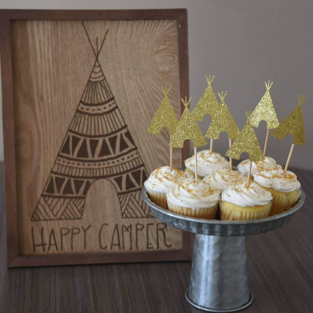 Kids party rentals, teepee rentals, party rentals, Happy Campers, Happy Glampers, Newport Beach, Orange County, teepees, indoor, campsite, new, town, party, parties, bakery, cupcakes, toppers