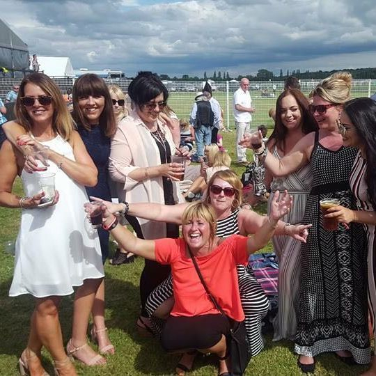 ladies at Newbury Races racecourse