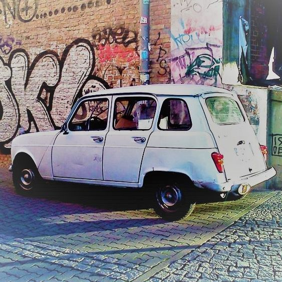 Retro, Vintage, Car, Auto, Tagging, Graffiti, Berlin, Germany