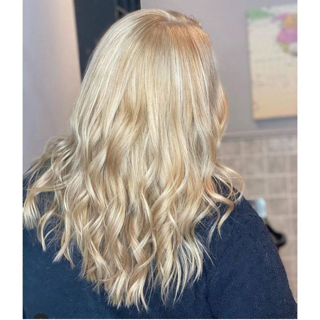 Made this blonde a more natural balayage