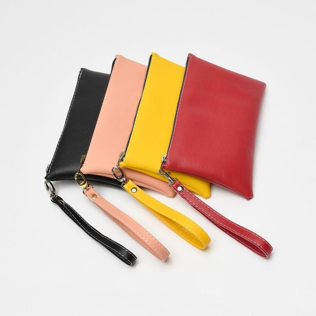 pink wristlet, wristlet, leather bag, designer bag, pink clutch, small pink bag