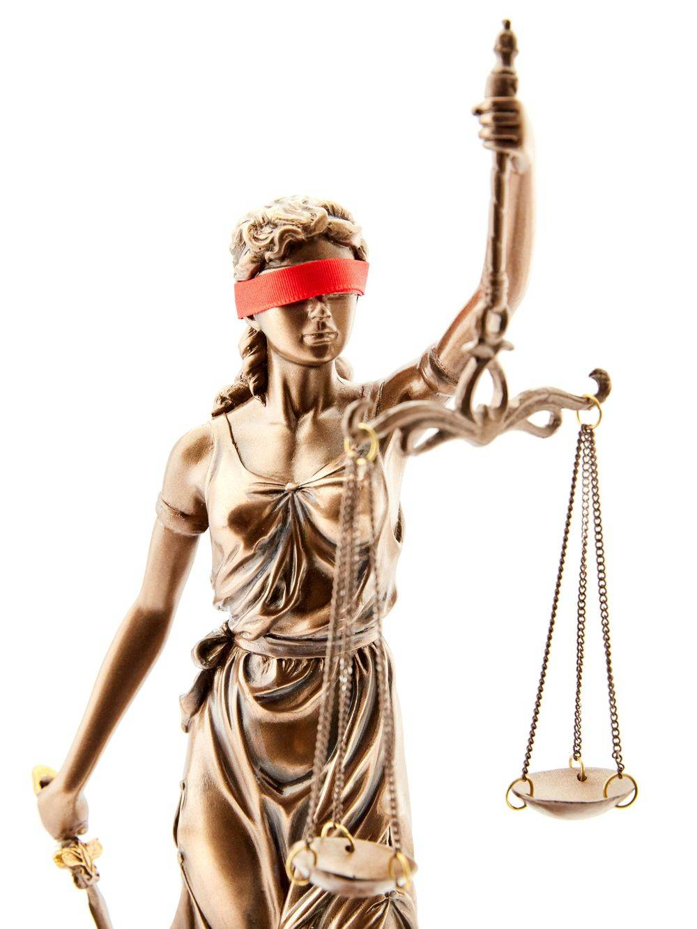 Blind justice statue to show irony when it comes to race relations in America