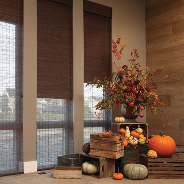 Hunter Douglas Provenance Woven Wood Shades are created from natural wood, reeds, bamboo and grasses that bring the beauty of nature into your home.