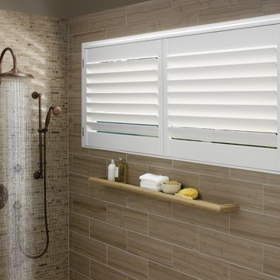 Hunter Douglas Palm Beach Shutters stand up to heat and humidity. And now they can be motorized!