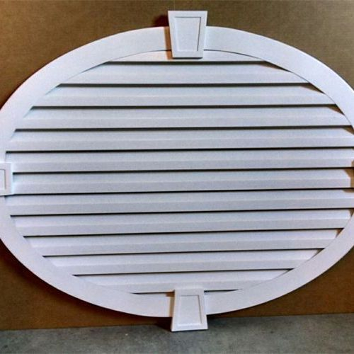 oval gable vent with keystones