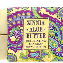 Zinnia Aloe Butter Exfoliating Shea Spa Soap
