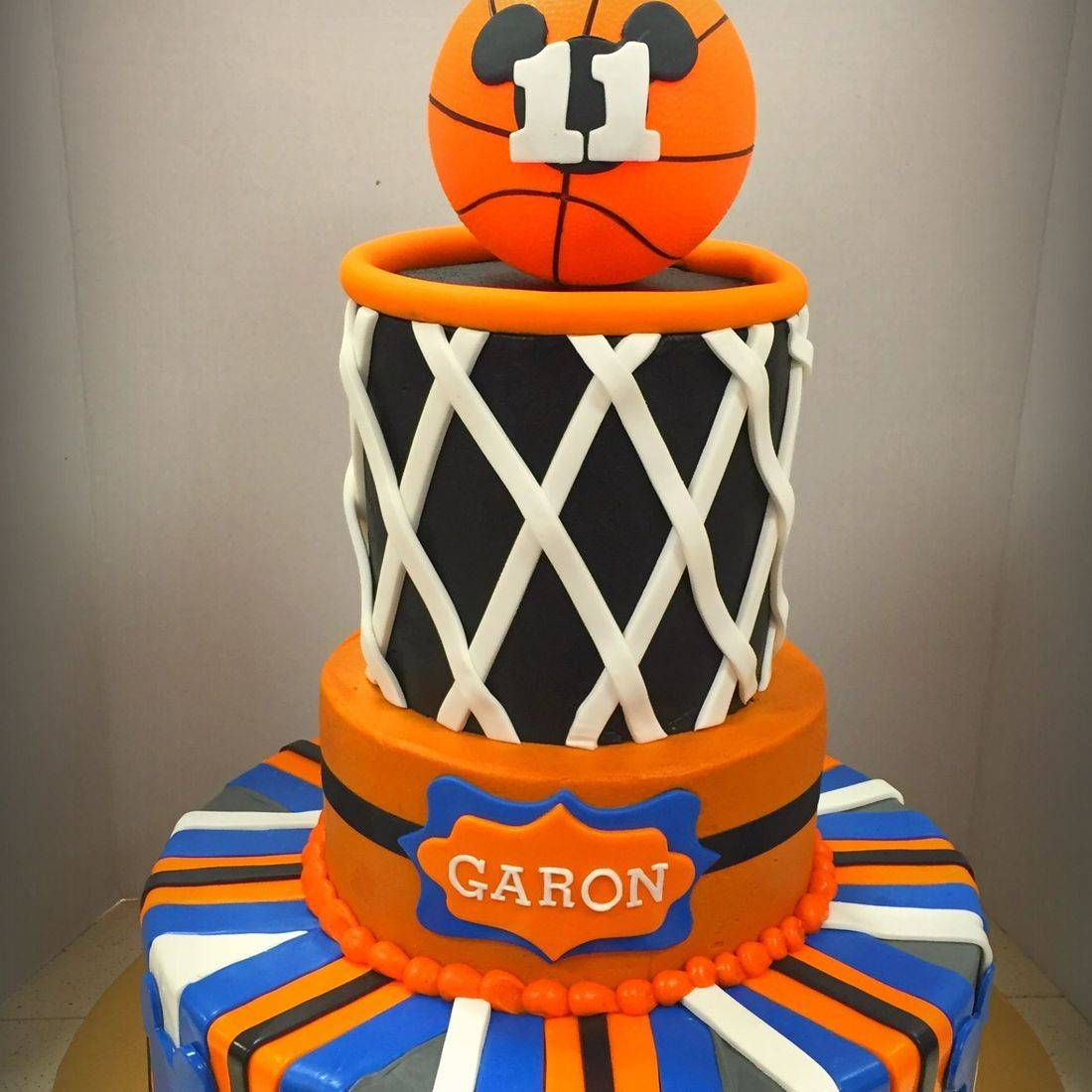 birthday cake basketball cake 4 tier ball cake hoop and net