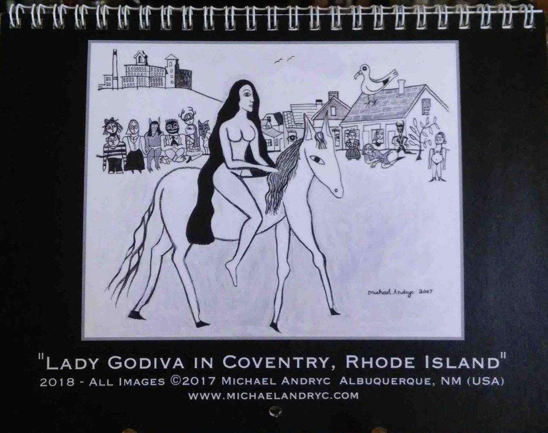 Calendar, Michael Andryc, Lady Godiva, Coventry, Rhode Island