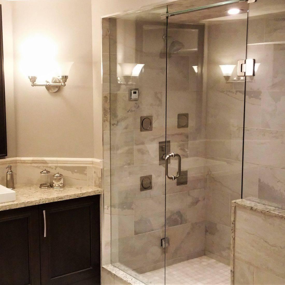 Sibra Kitchens Markham Toronto cabinets bathroom glass shower