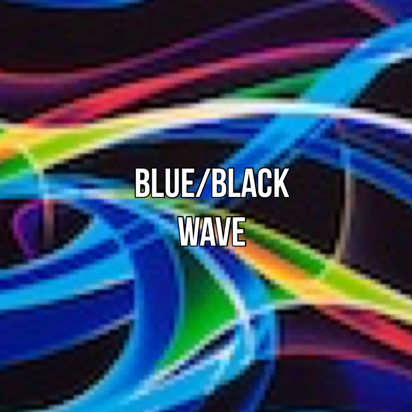 Black blue wave print